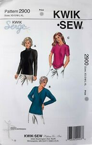 Kwik-Sew-or-Serge-2900-Woman-039-s-Top-Short-Long-Sleeve-overlocker-stretch