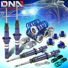 FOR 92-95 CIVIC/DC DNA GAS SHOCKS+SCALED COILOVER SPRINGS+MOUNT TOP HAT BLUE