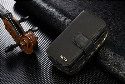 BRG Portable Magnetic Detachable Leather Card Wallet Case Bag For iPhone Samsung