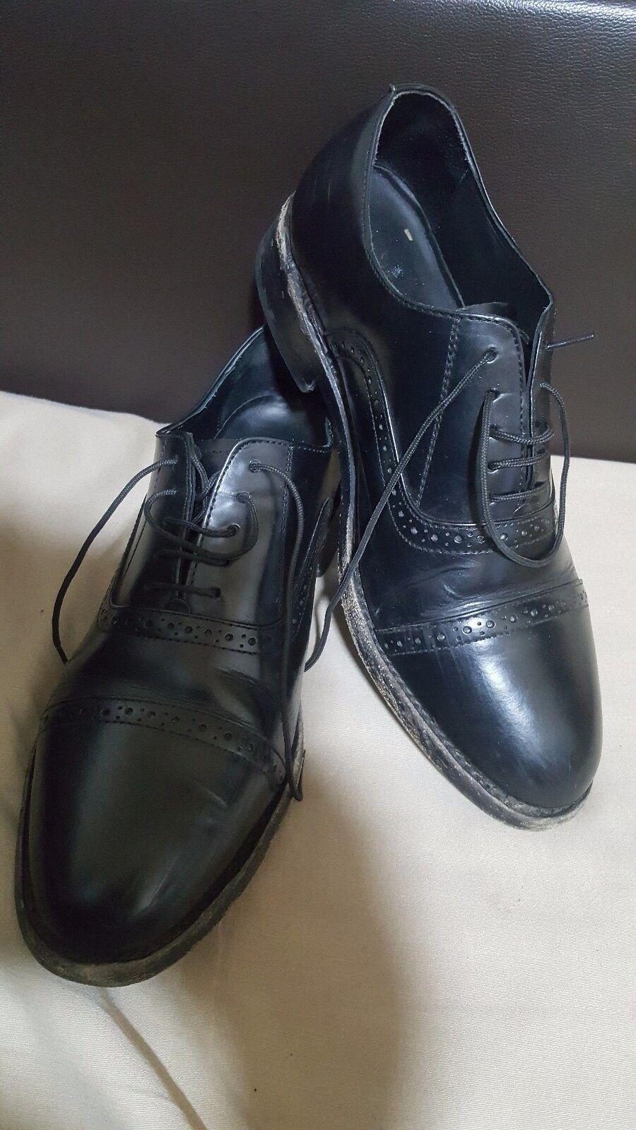 9190b408f897b SAMUEL WINDSOR ENGLAND Black Leather Men's shoes -size UK 8 EU 42 ...