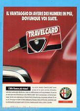 QUATTROR991-PUBBLICITA'/ADVERTISING-1991- ALFA ROMEO - SERVICE TRAVELCARD
