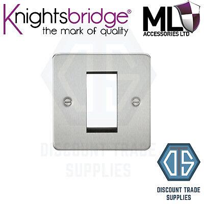 Knightsbridge Screwless 1G Modular Faceplate Polished Brass x1