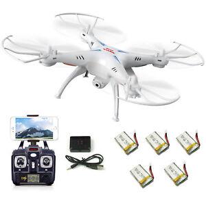 5-Batteries-Syma-X5SW-V3-RC-Quadcopter-Drone-WIFI-FPV-HD-Camera-2-4Ghz-6Axis-RTF