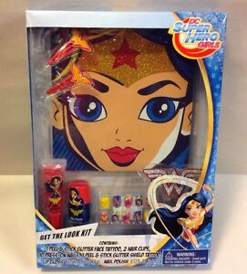 DC-Super-Hero-Girls-Wonder-Woman-Get-The-Look-Kit-Mask-Polish-Costume-TOY-NEW