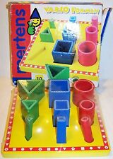 NIB MERTENS colorful wood VARIO FROMEN teaches SHAPES SIZES and MOTOR SKILLS