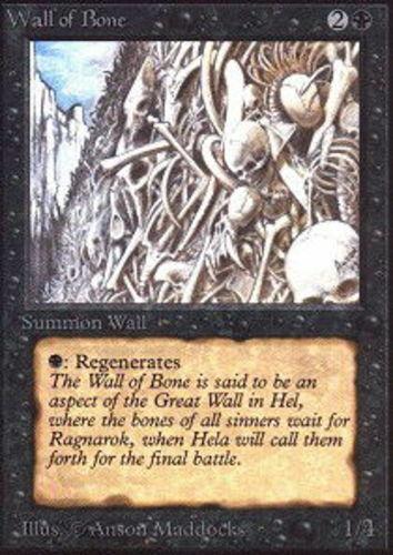 *CCGHouse* Magic Wall of Bone X4 Revised MTG NM