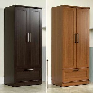 Wardrobe Closet Storage Armoire Tall Bedroom Furniture Cabinet ...