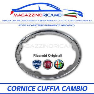 CORNICE DECORATIVA CUFFIA LEVA CAMBIO CROMATA SENZA GHIERA FIAT 500 07/> OE