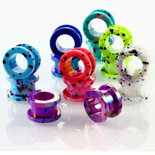 8pcs Spiral Acrylic Ear Tunnel Plug anders Gauges Body Jewelry 2mm-12mm