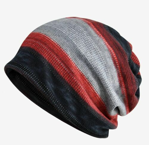 Warm Thermal Fleece Winter Hat For Men Knitted Cotton Beanie Skullies Head Cover