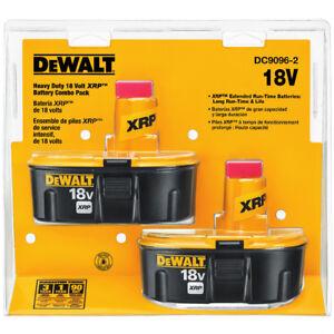 DEWALT 18V XRP 2.4 Ah Ni-Cd Battery (2 Pc) DC90962 New