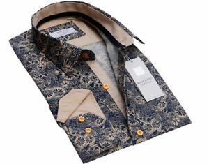 Russell-amp-Giles-Men-039-s-Designer-Estampada-Camisa-Talla-M-L-XL-2XL-3XL-Smart-Casual