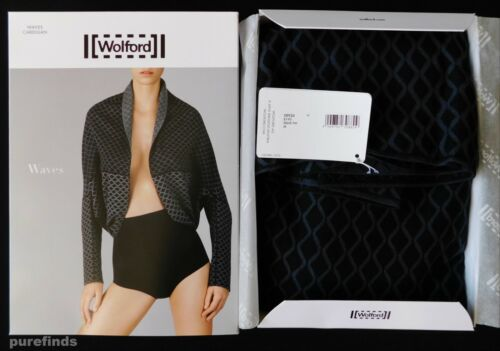 Giacca in Waves catrame media taglia scatola nuovo cardigan nero misto Wolford cotone naEnqpvg