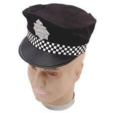 Peaked Flat Uniform Police Panda Man Woman Hat Fancy Dress Costume P6751