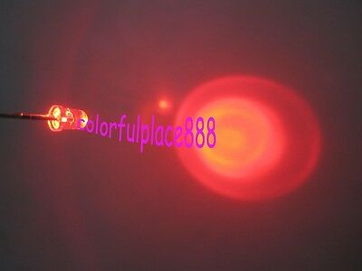 100pcs, 3mm Red Flash Flashing Blink Water Clear Bright LED Leds Light Bulb New