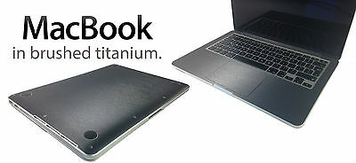 "Brushed Metal Skin Kit For MacBook Pro 13"" 15""  Stylish Protection Sticker"