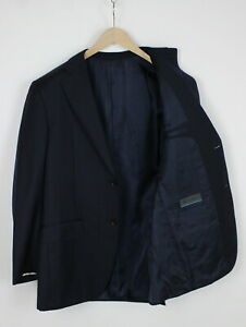 SuitSupply Super 110 Wool Herren Eu 50 Navy Nadelstreifen Formelle Blazer 36120_