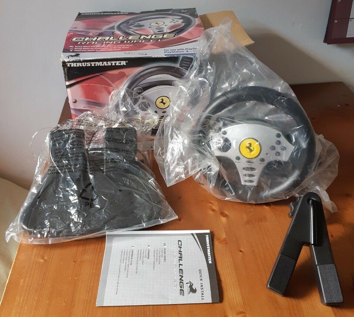 ThrustmasterChallenge Racing Steering Wheel PS1/PS2 damaged