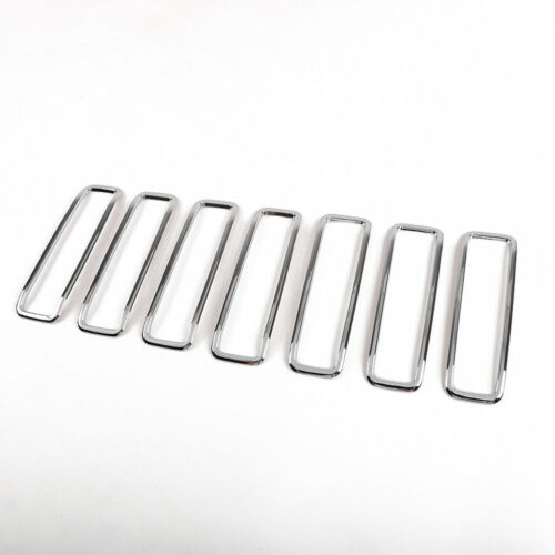 7PCS Front Hood Air Inlet Vent Cover Trim  for Jeep Wrangler JL 2018 Chrome