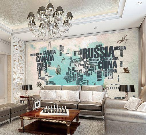 3D bella mappa 33 Parete Murale Foto Carta da parati immagine sfondo muro stampa