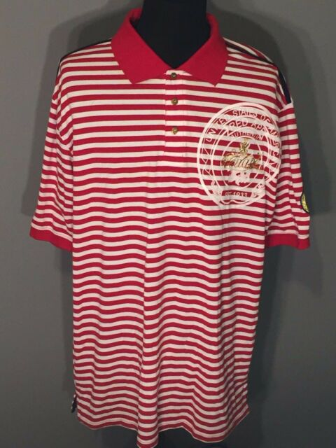 973b5c33 Red Ape Authentic Untied States of America Mens 4XL Red White Striped Polo  Shirt