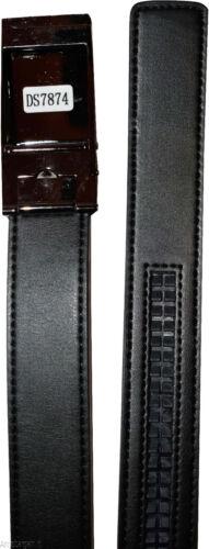 leather belt genuine leather dress casual track line ratchet men/'s black belt