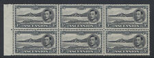 """ASCENSION - 1938/53 GVI P.13½ 3d """"VARIETY"""" IN BLOCK MNH SG.42a (REF.B34)"""