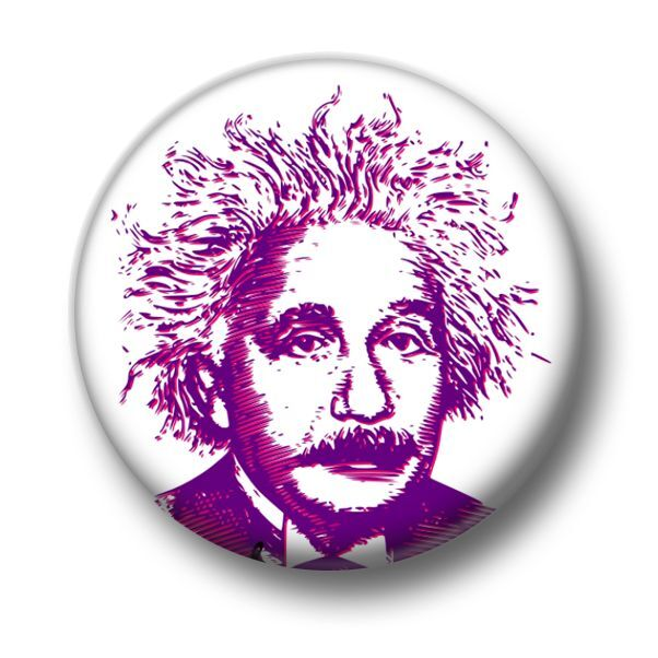 25mm Pin Button Badge Albert E=MC2 Science Scientist Theory Einstein 1 Inch