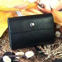 Men Women Genuine Cowhide Leather 26 ID Credit Card Case Holder Bag Wallet Purse