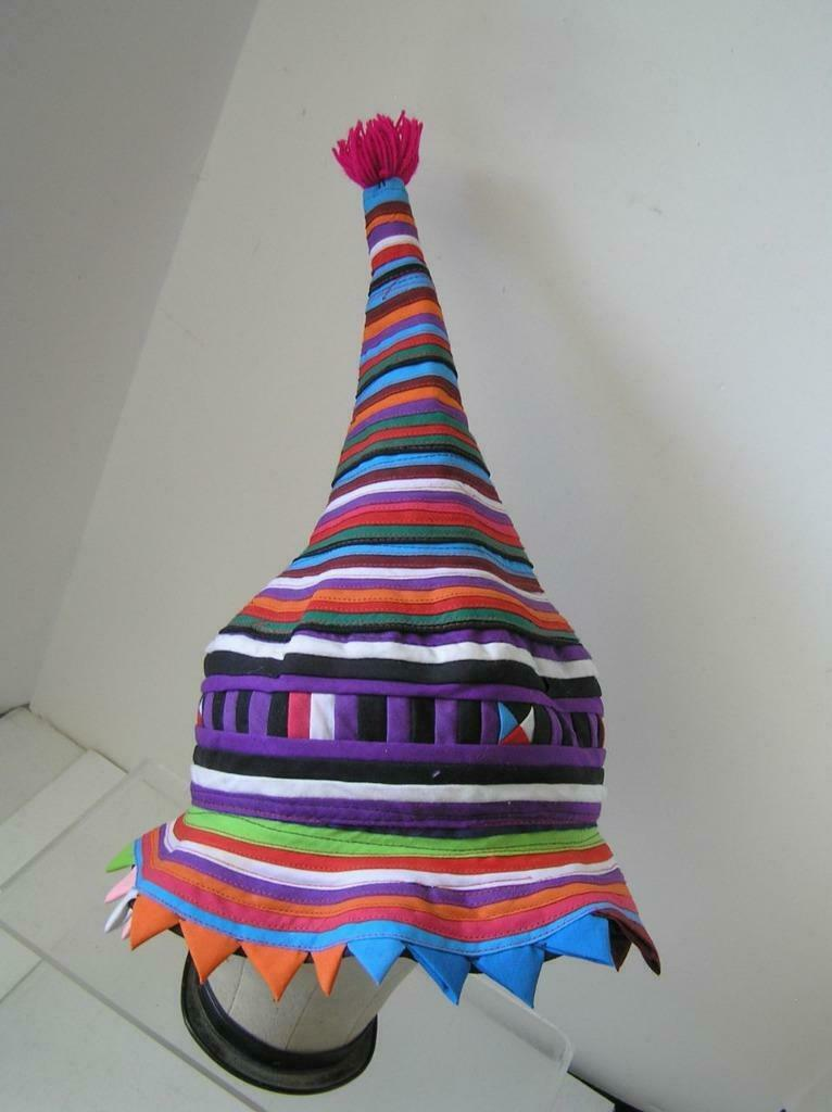 Seminole Native American Patchwork Conical Hat RA… - image 2