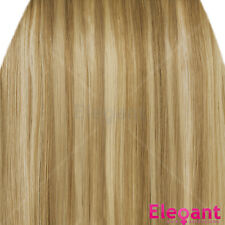 """20"""" Clip in Hair Extensions HIGHLIGHTS Blonde Mix #18/613 Straight 8pcs 50g"""