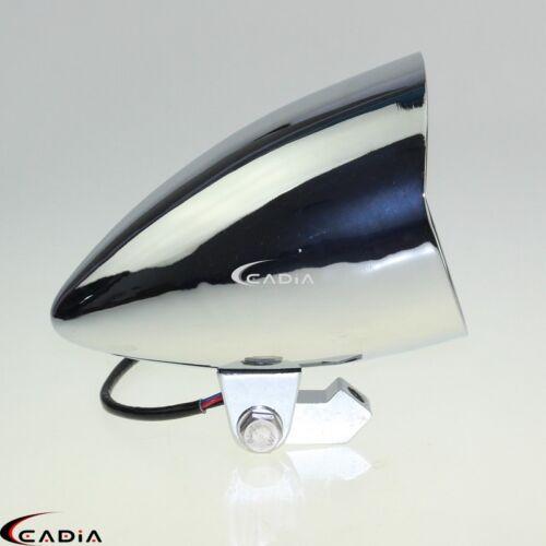 """Chrome Motorcycle 4.5/"""" Tri-Bar Visor Bullet Headlight Head Light Lamp For Harley"""