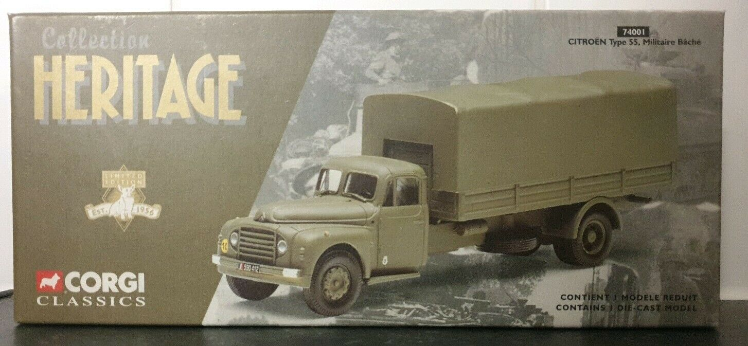 Corgi 74001 Heritage Collection Citreon Type 55 Militaire Bache BNIB