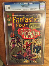FANTASTIC FOUR   #36  CGC  8.0  OFF WHITE- WHITE PAGES  (1ST FRIGHTFUL FOUR)