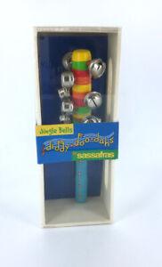 Kids Jingle Bell Stick, Rhythm Instrument, Shaker Bells, New in Box, Music Teach