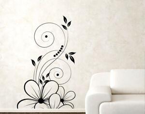 Adesivi Floreali Da Parete.Dettagli Su Adesivi Murali Fiori Stickers Da Parete Adesivo Murale Floreali Da Muro Casa