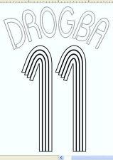 Chelsea Drogba 11 Euro 2006-2008 Home Football Name set  for National shirt