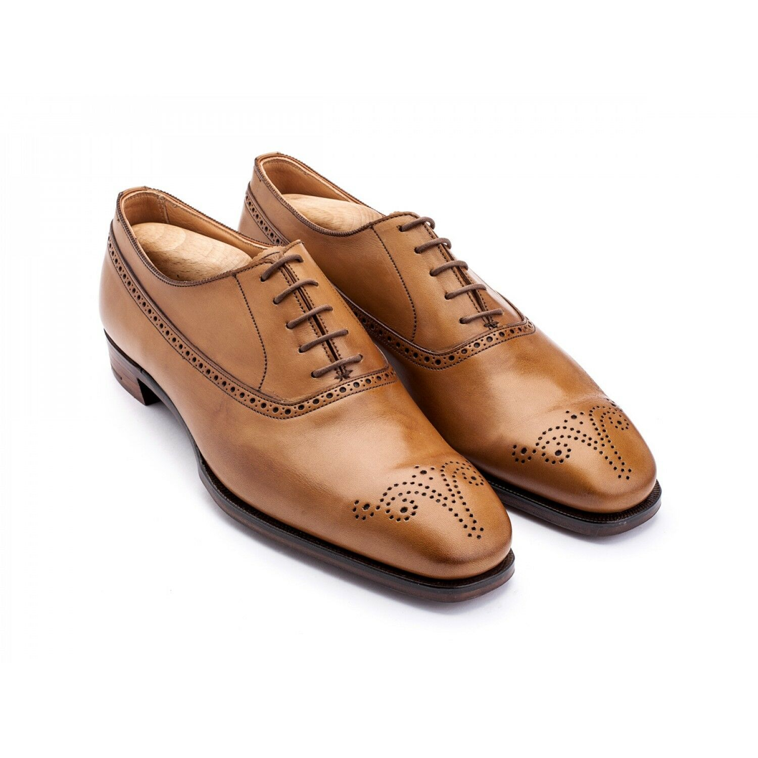 6b363f12bdc0f2 G.J. Cleverley Beige Calf Christian Antique nvearx7269-Formal Shoes ...
