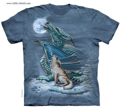 grigio shirt Lupo Urlo Nodi T Verde Bizzarra Moon Maglietta Dragon blu A Tinto 8qpYdUw