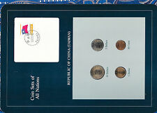 Coin Sets of All Nations China (Taiwan) w/card UNC 1981-1986 1,5,10 Yuan 1981