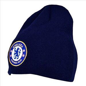 La imagen se está cargando Oficial-Chelsea-Football-Club-Azul-Basico-Gorro- Gorro- ec6fb54e7c9
