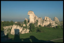 613042 White Limestone Rocks Zawierci Poland A4 Photo Print