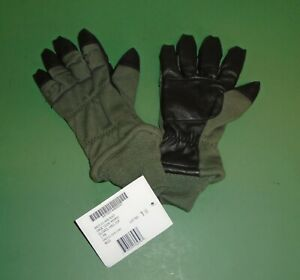 USGI Military Intermediate Cold Weather Flyer's Gloves HAU-15//P Sage Green NIB