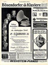 Grammophon - Bechstein - Hupfeld - Bösendorfer (Weihnachtsanzeigen)  c.1911