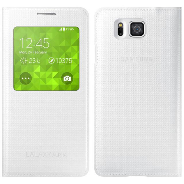 Samsung S-View Custodia cover per Samsung Galaxy Alpha - Bianco