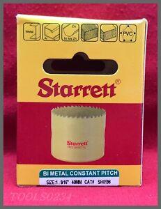 New boxed 40mm Starrett Bi Metal constant pitch Holesaw