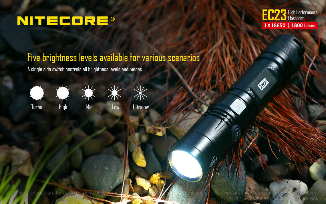 Combo: Nitecore EC23 Flashlight & w/1x NL1835HP Battery & Flashlight Tactical Holster 8072eb
