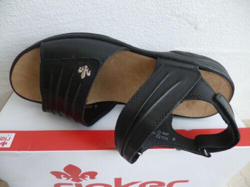Sandali Tacco Pelle Donna Alto Col Sandalo Rieker Nuovo Nero 64560 8qREwOx8dX