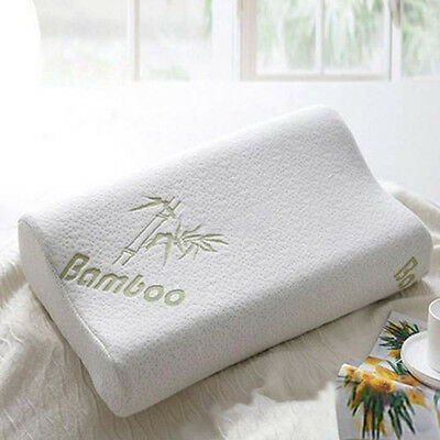 30x50 Sleep Bamboo Fiber Slow Rebound Memory Foam Pillow Cervical Health Care GA