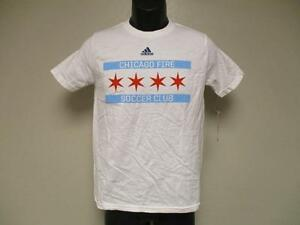 c5acc1445 NEW-DIRTY- CHICAGO FIRE YOUTH M MEDIUM (10 12) ADIDAS WHITE SHIRT